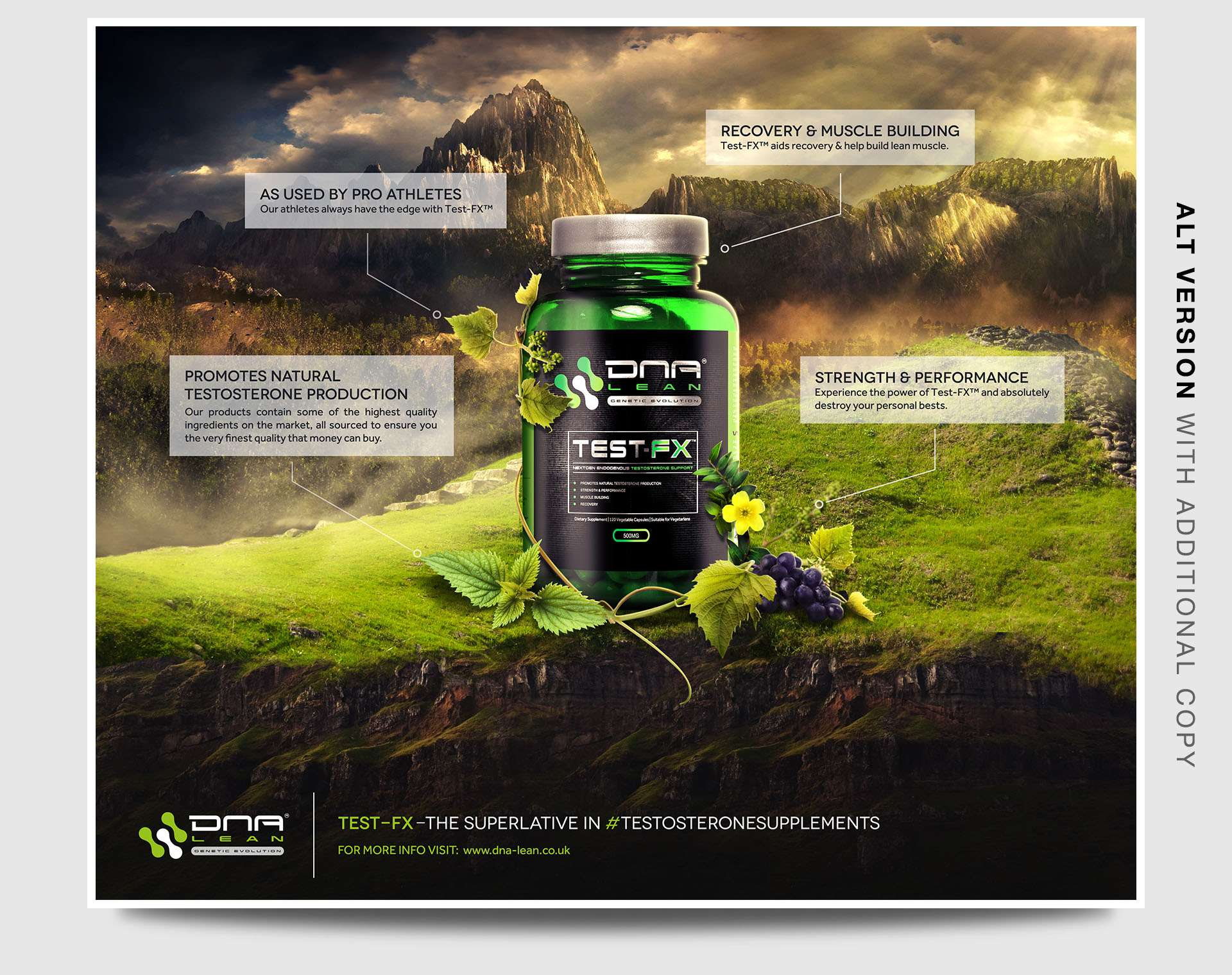 fitness graphic design & supplement design