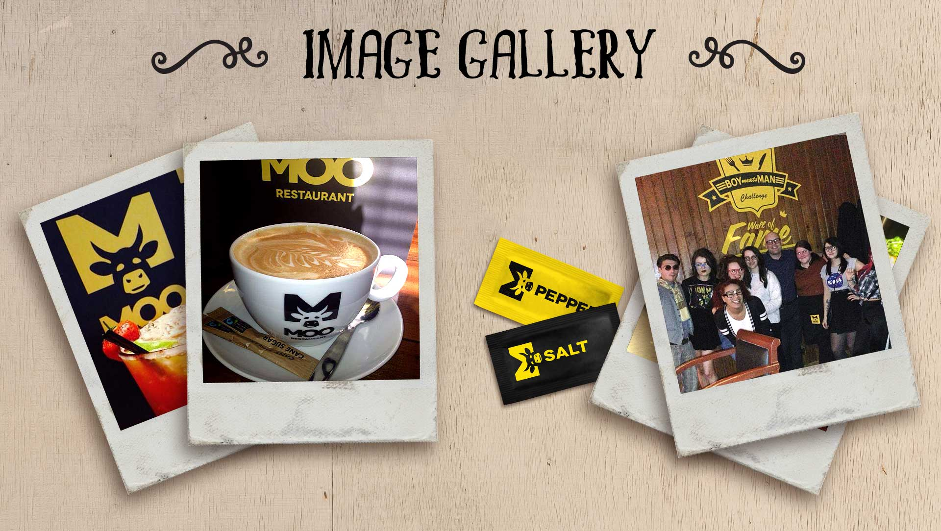 Moo restaurant logo design and menu design