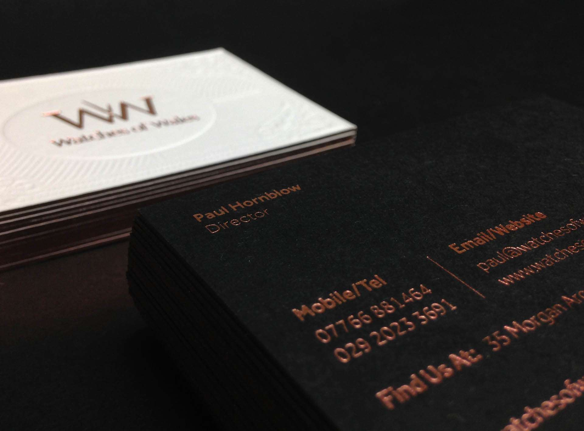 Luxury Foil Business Card Designs